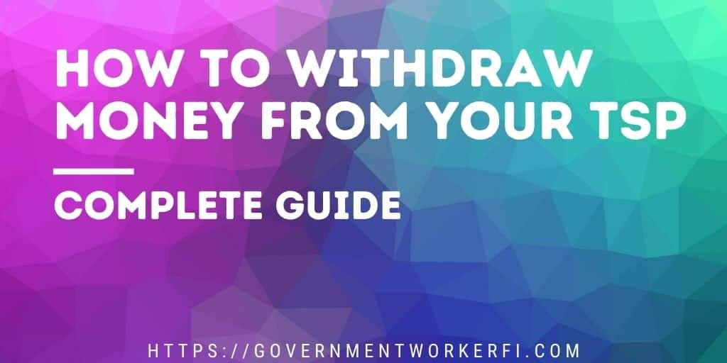 Banner image with text how to withdraw money from your tsp