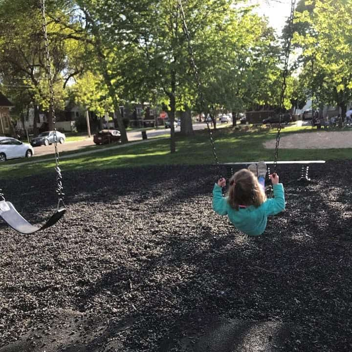 child on the swings